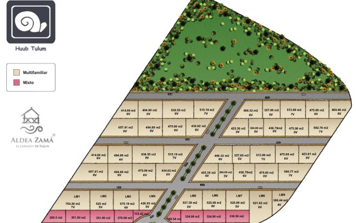 Foto de terreno habitacional en venta en  , boca paila, tulum, quintana roo, 1568966 No. 03