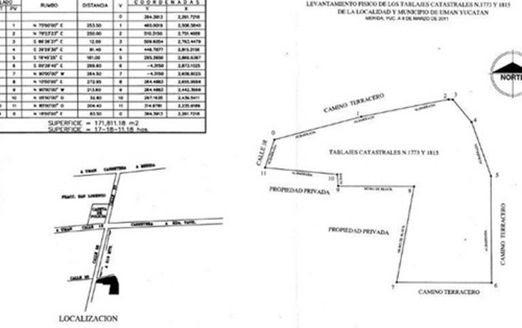 Foto de terreno habitacional en venta en  , bosques de uman, um?n, yucat?n, 1066769 No. 01