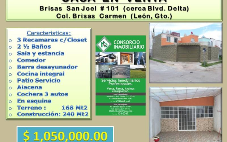 Foto de casa en venta en brisas de san joel 101, brisas del carmen, le?n, guanajuato, 1690340 No. 01