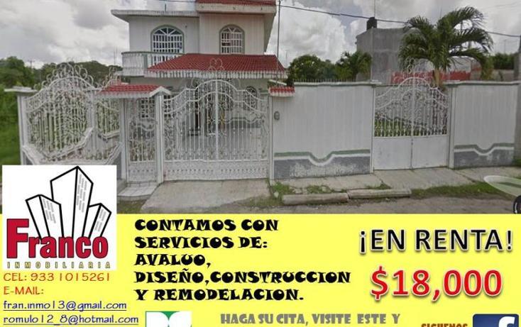 Foto de casa en renta en  , buena vista, comalcalco, tabasco, 1433467 No. 01