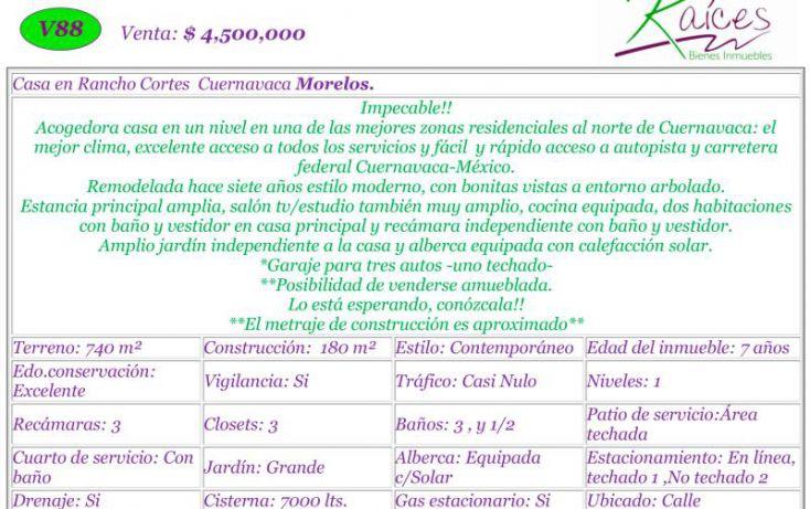 Foto de casa en venta en, buenavista, cuernavaca, morelos, 1568170 no 02