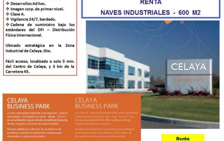 Foto de nave industrial en renta en buss park celaya  sur 2 38010 celaya gto, ciudad industrial, celaya, guanajuato, 754141 no 01