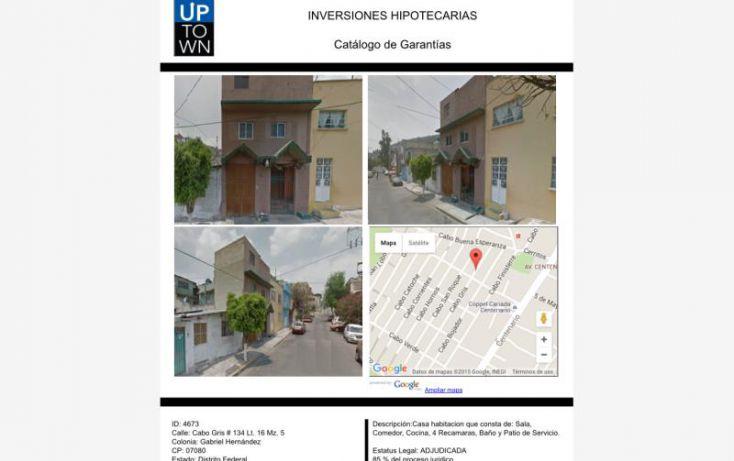 Foto de casa en venta en cabo gris 134, gabriel hernández, gustavo a madero, df, 1721270 no 02