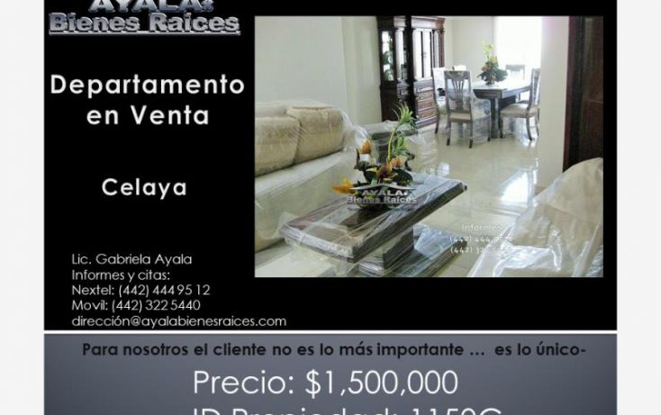 Foto de departamento en venta en calaya, del bosque 1a secc, celaya, guanajuato, 1160271 no 01