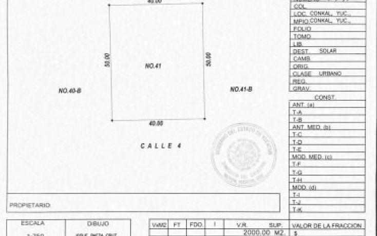 Foto de terreno habitacional en venta en calle, conkal, conkal, yucatán, 1719182 no 03
