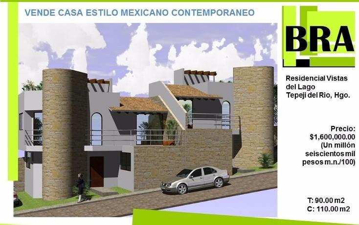 Foto de casa en venta en  , caltego, tepeji del río de ocampo, hidalgo, 1476013 No. 01