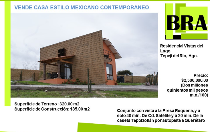 Foto de casa en venta en  , caltego, tepeji del río de ocampo, hidalgo, 1484111 No. 01