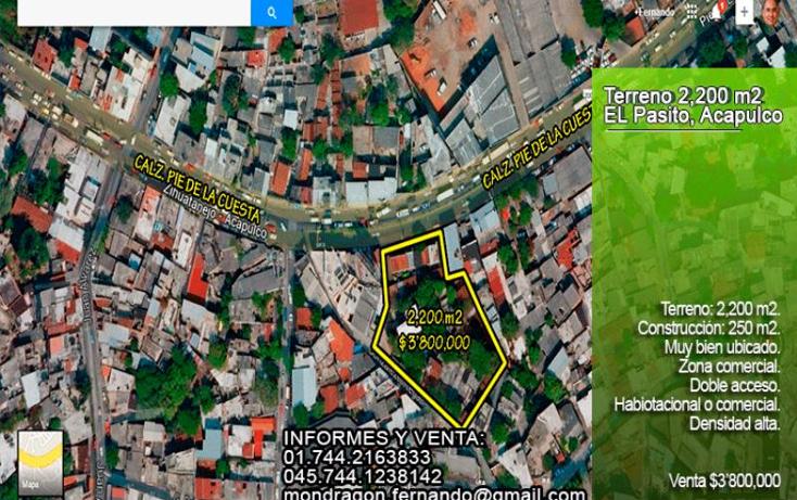 Foto de terreno comercial en venta en calzada pie de la cuesta nonumber, del hueso, acapulco de ju?rez, guerrero, 1542846 No. 01