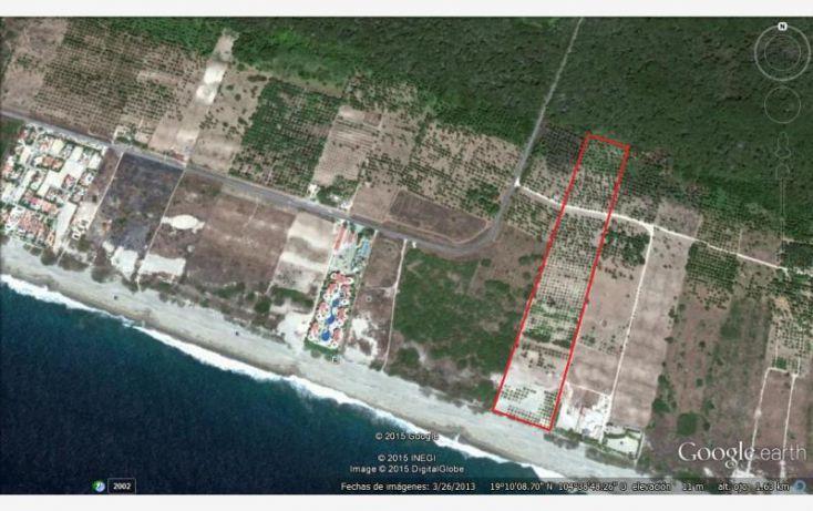 Foto de terreno comercial en venta en camino a colimilla, el rebalse, cihuatlán, jalisco, 1583428 no 01