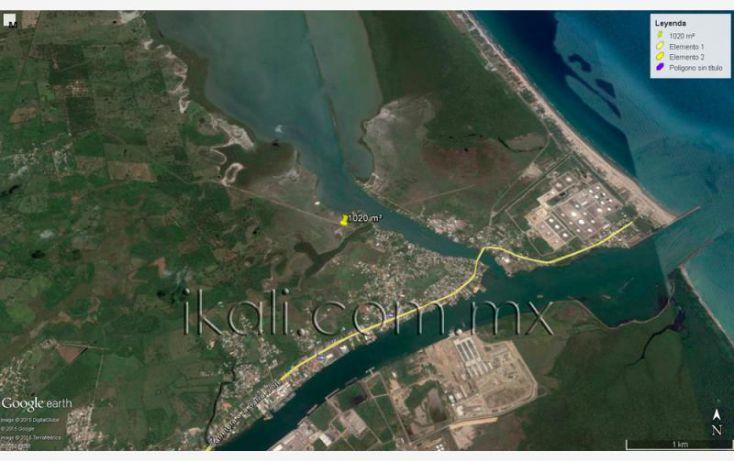Foto de terreno habitacional en venta en camino a laguna de tampamachoco, la mata, tuxpan, veracruz, 1589312 no 07