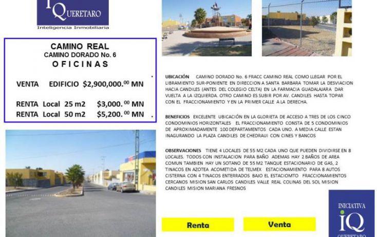 Foto de oficina en renta en camino real  camino dorado glorieta 6, colinas del sur, corregidora, querétaro, 1038031 no 01