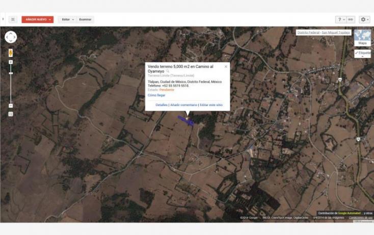 Foto de terreno habitacional en venta en camino real a oyameyo, san miguel topilejo, tlalpan, df, 878997 no 11