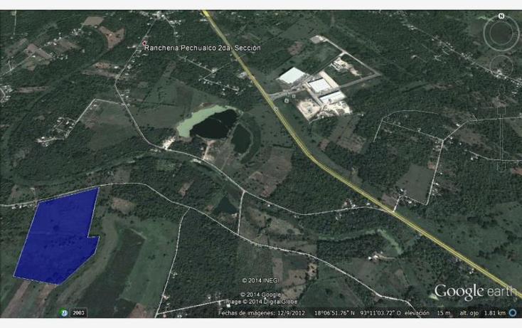 Foto de terreno habitacional en venta en camino vecinal la piedra 2da 1.7km de carretera federal 6, cunduacan centro, cunduacán, tabasco, 516855 No. 02