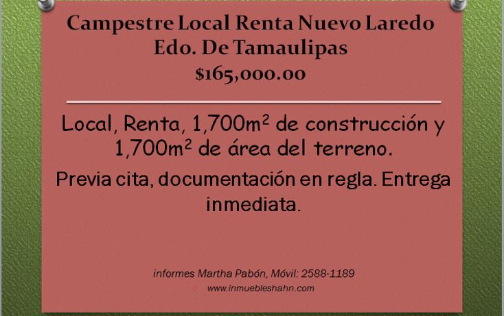 Foto de local en renta en  , campestre, nuevo laredo, tamaulipas, 1087613 No. 01