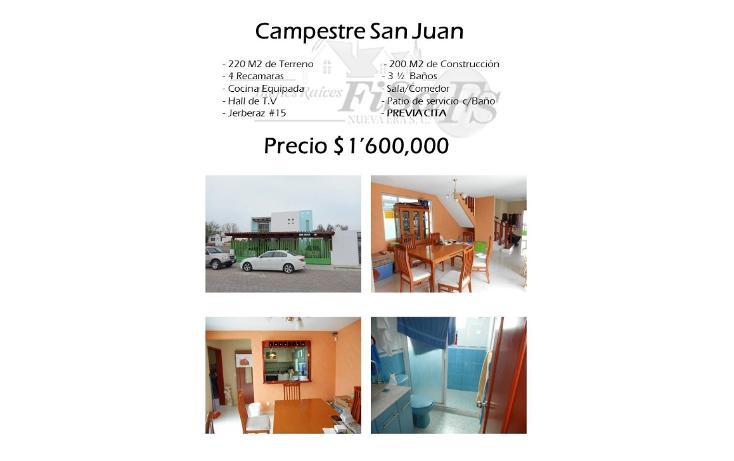 Foto de casa en venta en  , campestre san juan 1a etapa, san juan del río, querétaro, 1503209 No. 01