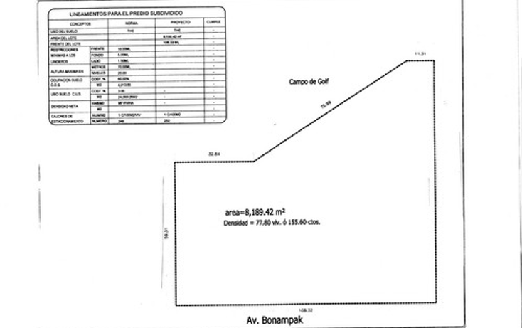 Foto de terreno habitacional en venta en  , canc?n centro, benito ju?rez, quintana roo, 1062571 No. 07