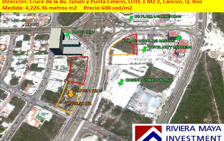 Foto de terreno comercial en venta en  , cancún centro, benito juárez, quintana roo, 1128823 No. 01