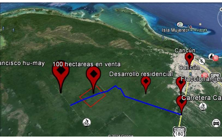 Foto de terreno habitacional en venta en  , cancún centro, benito juárez, quintana roo, 1279007 No. 03