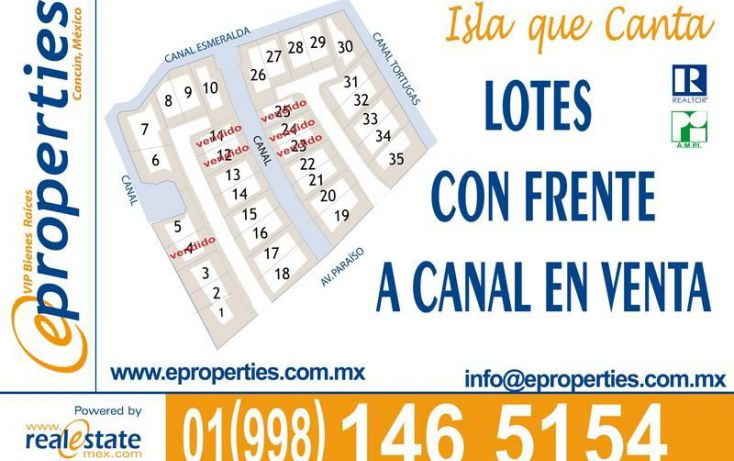 Foto de terreno habitacional en venta en, cancún centro, benito juárez, quintana roo, 2042516 no 02