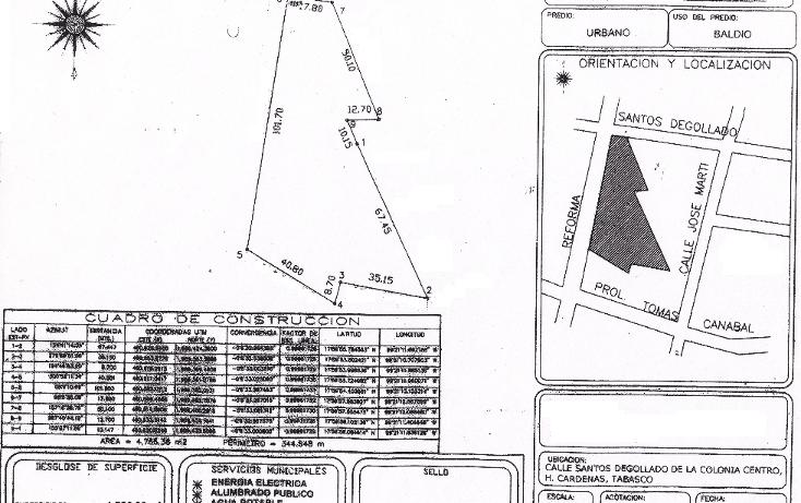 Foto de terreno comercial en venta en  , c?rdenas centro, c?rdenas, tabasco, 1148447 No. 01