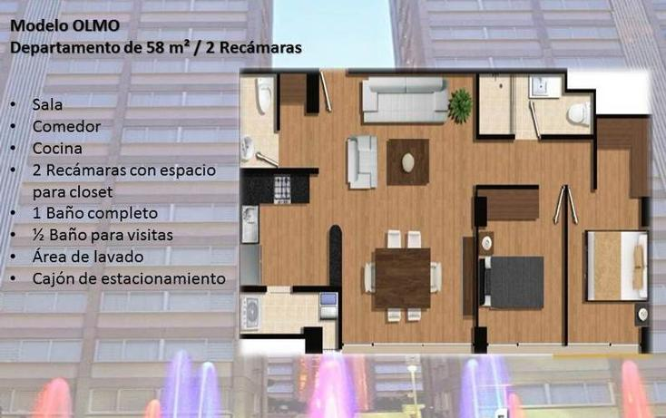 Foto de departamento en venta en  , carola, álvaro obregón, distrito federal, 841067 No. 02