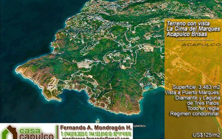 Foto de terreno habitacional en venta en carr escénica, lomas del marqués, acapulco de juárez, guerrero, 1377895 no 01