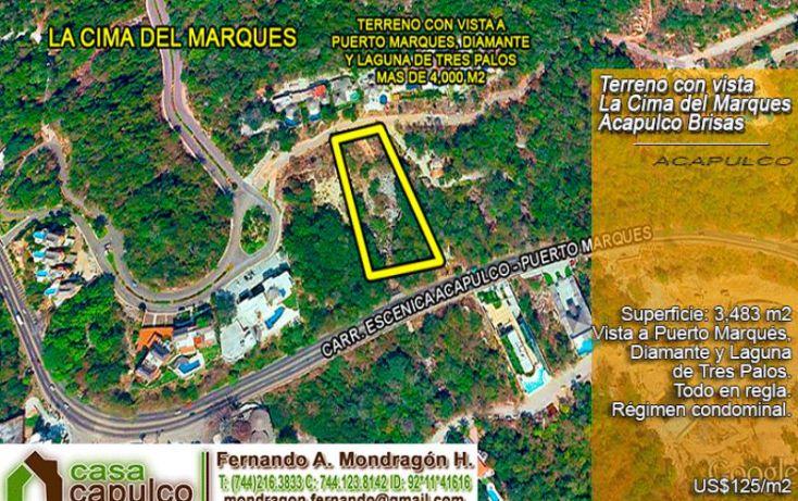 Foto de terreno habitacional en venta en carr escénica, lomas del marqués, acapulco de juárez, guerrero, 1377895 no 02