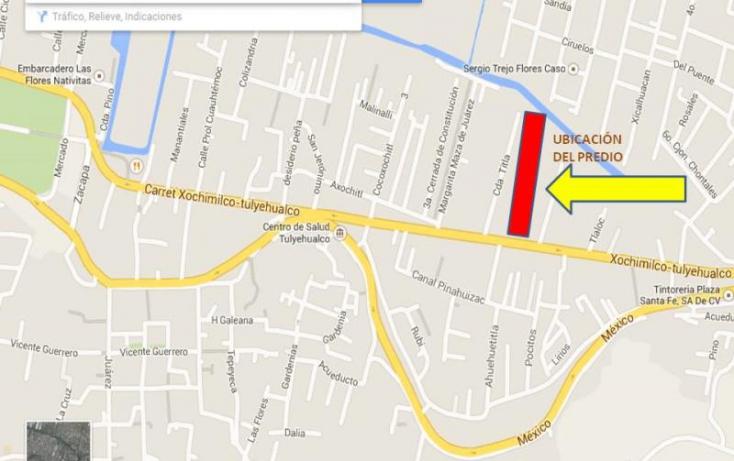 Foto de terreno habitacional en venta en carr xochimilco tulyehualco, barrio pocitos, xochimilco, df, 671237 no 09
