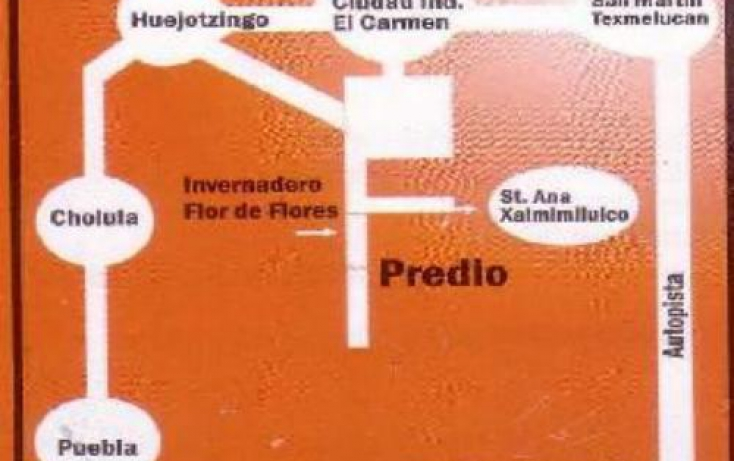 Foto de terreno habitacional en venta en carret de huejotzingo a san martin temelucan 1, santa ana xalmimilulco, huejotzingo, puebla, 768333 no 01