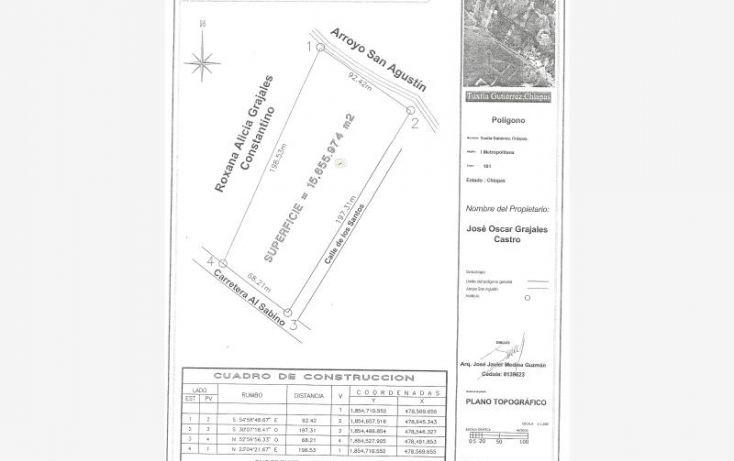 Foto de terreno comercial en venta en carretera al sabino, plan de ayala, tuxtla gutiérrez, chiapas, 1586358 no 20