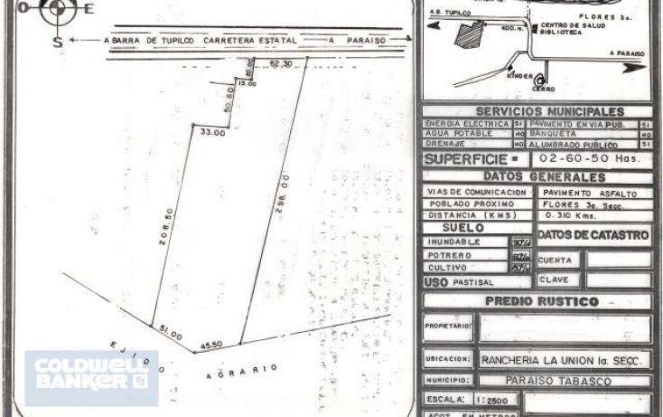 Foto de terreno habitacional en venta en carretera estatal paraiso a barra de tupilco, el limón, paraíso, tabasco, 1954182 no 01