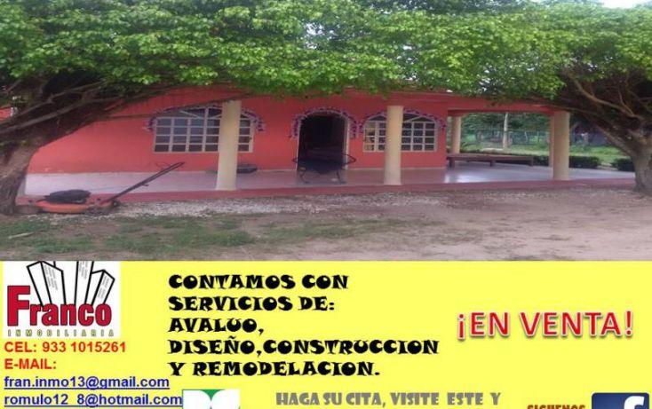 Foto de casa en venta en carretera federal comalcalcoparaiso, cap reyes hernandez 2a secc, comalcalco, tabasco, 1606518 no 01