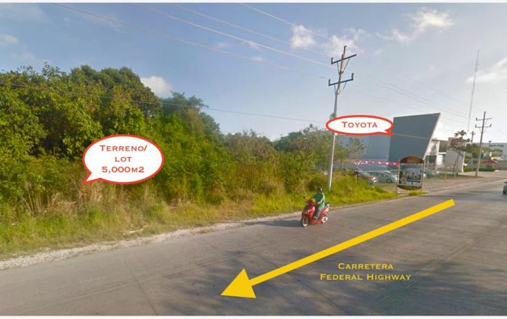 Foto de terreno comercial en venta en carretera federal emls122, el tigrillo, solidaridad, quintana roo, 724887 No. 02