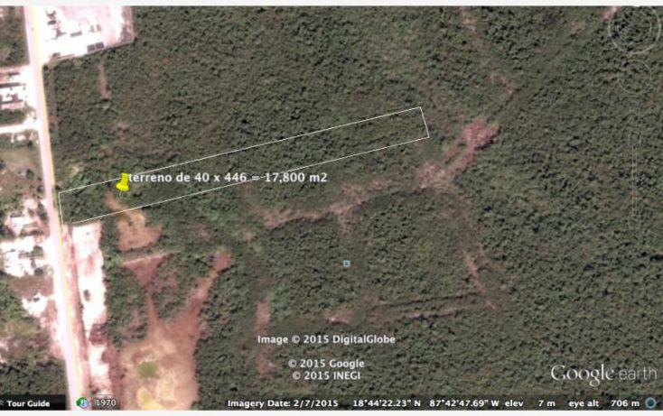 Foto de terreno comercial en venta en carretera federal, kuchumatán, bacalar, quintana roo, 1564006 no 03