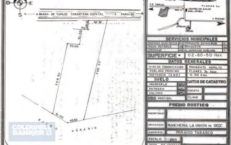 Foto de terreno comercial en venta en carretera paraisotupilco, el limón, paraíso, tabasco, 1986318 no 01