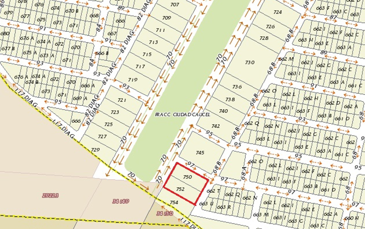 Foto de terreno comercial en venta en  , caucel, mérida, yucatán, 1069883 No. 03