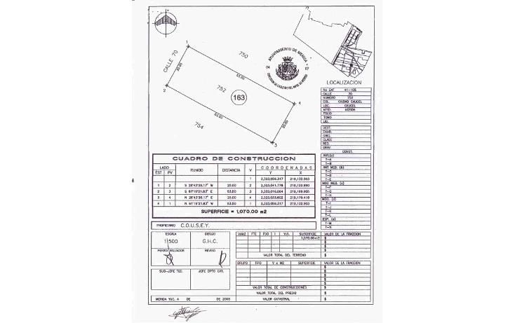 Foto de terreno comercial en venta en  , caucel, mérida, yucatán, 1249927 No. 02