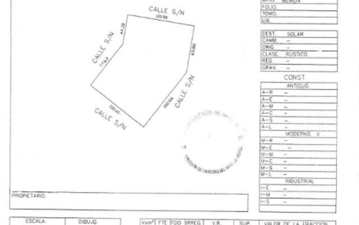 Foto de terreno comercial en venta en  , caucel, mérida, yucatán, 1494977 No. 02