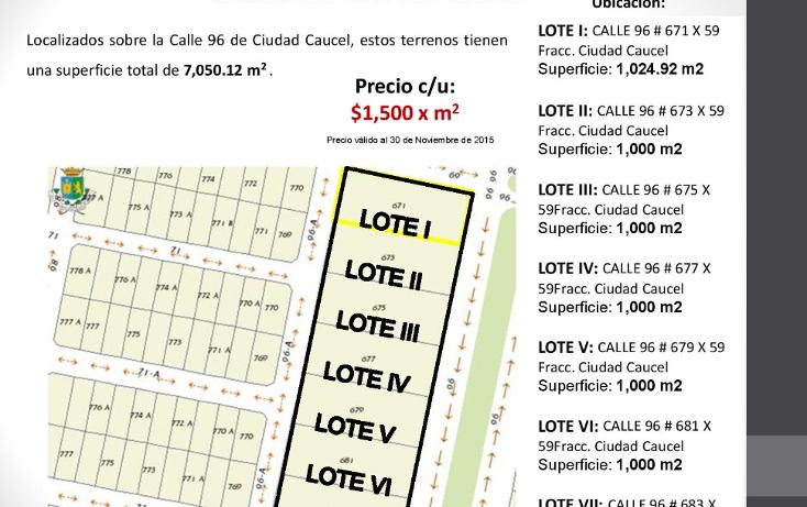 Foto de terreno habitacional en venta en  , caucel, mérida, yucatán, 1514840 No. 01