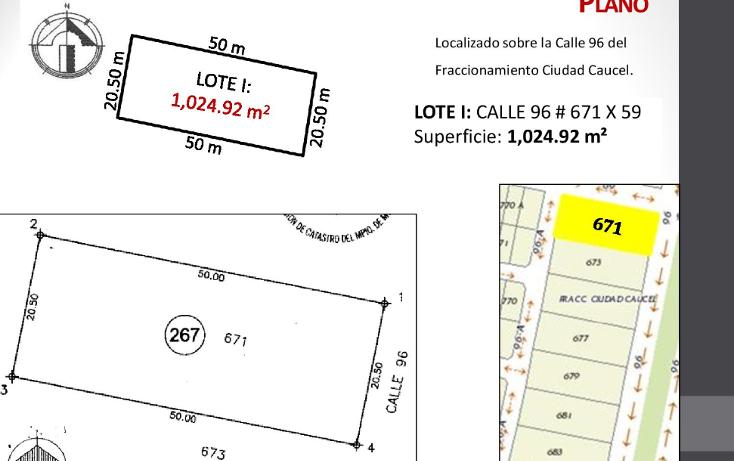 Foto de terreno habitacional en venta en  , caucel, mérida, yucatán, 1514840 No. 03