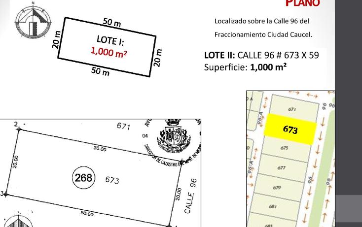 Foto de terreno habitacional en venta en  , caucel, mérida, yucatán, 1514840 No. 04