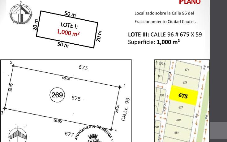 Foto de terreno habitacional en venta en  , caucel, mérida, yucatán, 1514840 No. 05
