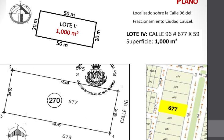 Foto de terreno habitacional en venta en  , caucel, mérida, yucatán, 1514840 No. 06
