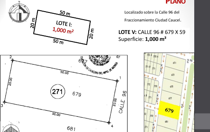 Foto de terreno habitacional en venta en  , caucel, mérida, yucatán, 1514840 No. 07