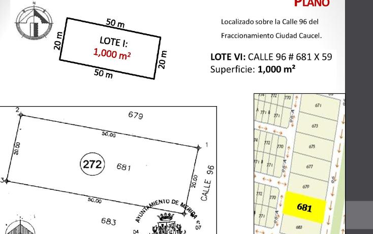 Foto de terreno habitacional en venta en  , caucel, mérida, yucatán, 1514840 No. 08