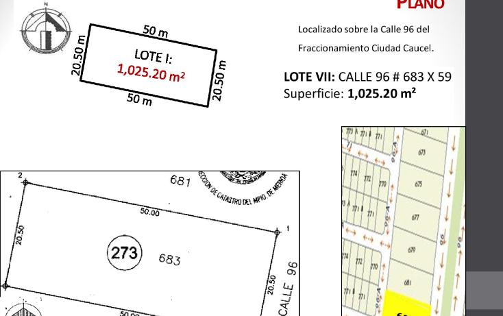 Foto de terreno habitacional en venta en  , caucel, mérida, yucatán, 1514840 No. 09