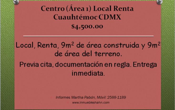 Foto de local en renta en, centro área 1, cuauhtémoc, df, 1084581 no 01