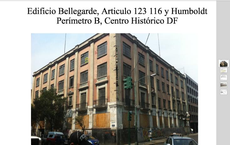 Foto de edificio en venta en  , centro (área 1), cuauhtémoc, distrito federal, 1089367 No. 01