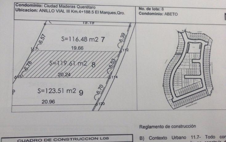 Foto de terreno habitacional en venta en, centro, el marqués, querétaro, 1405413 no 04