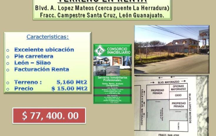 Foto de terreno comercial en renta en  , centro, le?n, guanajuato, 1671376 No. 01